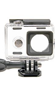 waterdichte doorzichtige plastic + aluminium case voor Xiaomi yi