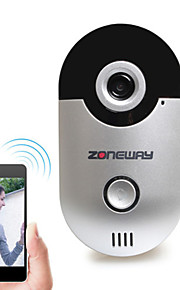 zoneway® d1 wi-fi video dørklokken version 1.0 med 2,5 mm vidvinkelobjektiv, 10 meter nattesyn