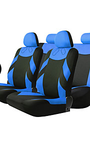 TIROL 13 Pieces Full Seat Cover Set Universal seat cover set including Wheel Covers Car Accessories Blue/Beige