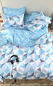 mingjie® 남자와 여자 침대 시트 중국 화창한 날 푸른 여왕과 트윈 사이즈 샌딩 침구 세트 4 개