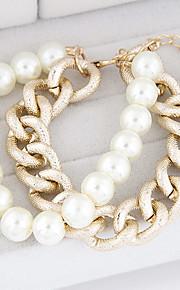לנשים - צמידים - אוסף חרוזי פרסונה/שרשרת ( סגסוגת )