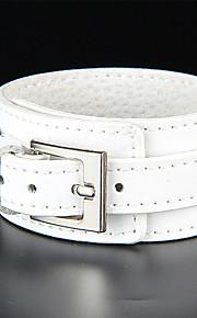 Unisex Western Style Fashion Hip-Hop Chain Bracelet Faux Leather