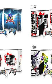 beschermende vinyl skin sticker skin sticker voor xbox360 slim console&twee controllers