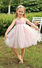 A-linja Tylli Flower Girl Dress - Hihaton - Polven alle