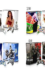 vinyloverdrukplaatje beschermende sticker huid voor Microsoft Xbox 360 slim en 2 controllers skins