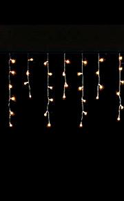 4W 3 Meter lange 100pcs LED-String-Licht mit AC110-220V Eingang PVC transparent, Farbe gelb