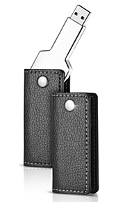 16gb metal nøgle usb-flashdrev med læderetui