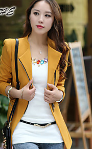 BOUTW16®Women's Vintage/Sexy/Bodycon/Casual/Print/Cute/Party/Work/Plus Sizes Thick Long Sleeve Regular Coat