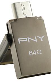 PNY OTG duo-link ou5 64GB USB-flashdrev, grå