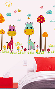 Color Giraffe Nursery Wall Stickers Children's Room Decorative Wall Stickers