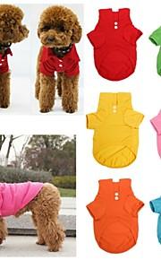 Rojo/Verde/Azul/Rosado/Amarillo/Naranja - Boda/Cosplay - Algodón - Camiseta - Perros/Gatos -