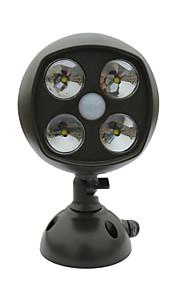 Batterie sans fil intempéries 600 lumens 4-conduit alimenté Spot LED applique murale avec détecteur de mouvement pir&capteur de