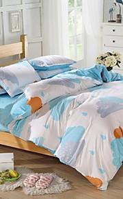 mingjie® regina bianca e blu stagione delle piogge e le dimensioni di due letti singoli levigatura insiemi 4pcs per ragazzi e ragazze di