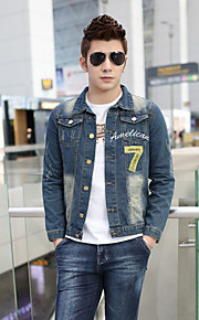 The spring and autumn period and the cowboy coat lapels, men's wear cotton men jacket coat of personality