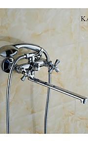 kalud finition chrome style contemporain robinets en laiton paroi de douche monté robinet mélangeur