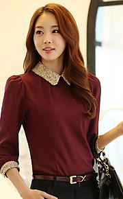 חולצת השיפון אלגנטי אופנה של נשים (יותר צבעים)