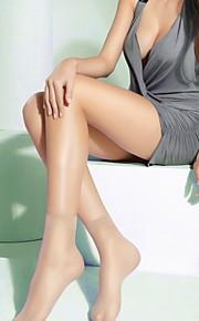 5 Pairs Ultrathin Transparent Fiber Crystal Elastic Short Socks Mixed Colors