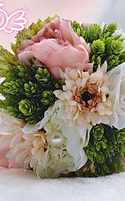 Bouquet sposa Tondo Rose Bouquet Matrimonio Perline 21cm