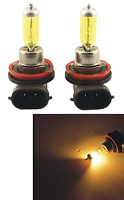 2 stuks carking ™ Kobo h8 / h11 550lm 3000K gele licht auto halogeen koplampen (DC 12V)