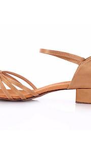 Women's/Kids' Dance Shoes Belly/Latin/Yoga/Tap/Salsa Fabric Low Heel Black