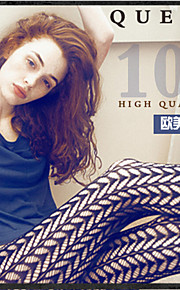Women Polyester Thin Pantyhose Restoring ancient ways is hollow-out jacquard LiuYeXing individuality