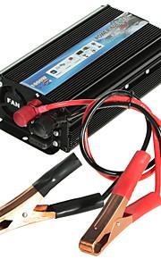 hot-a1-00022 1000w auto voertuig usb dc 12v aan ac 110v omvormer adapter converter - zwart