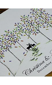 Finger Print Wedding Singnature Tree, Wedding Guest Book Alternative