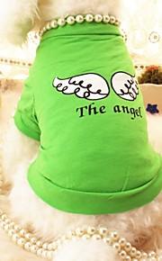 Verde/Morado - Boda/Cosplay - Algodón - Camiseta - Perros/Gatos -