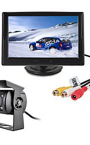 renepai® 5 inch hd-monitor + bus 170 ° hd auto achteruitrijcamera waterdichte camera kabellengte 6m, 10m, 16m, 20m,