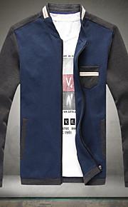 Jacke ( Schwarz/Blau , Polyester ) - für Freizeit - für MEN Lang