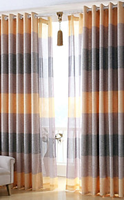 Two Panels Europe Contracted Simple But Elegant Fashion High-Grade Flax Sitting Room The Bedroom Curtains