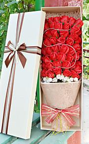 51pcs искусственное сердце пользу выросла тела туалетное мыло цветок лепесток партия подарок свадебные украшения