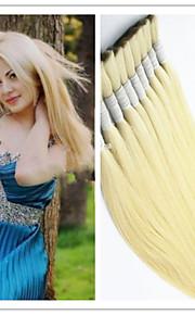 """3шт / много человек девственница часть волос 14 """"-32"""" девственница 100% перуанский волосы природа масса сырья часть волос блондинка 613 #"""