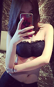 High Quality Sexy Beauty Back Cross A Strapless Bud Silk Lace Strapless —— Have Breast Pad