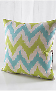 Modern Style Wavy Pattern Cotton/Linen Decorative Pillow Cover