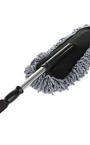 hoge kwaliteit nano vezels verwijderbare telescopische voertuig autowas mop cleaning slepen - grijs + zwart