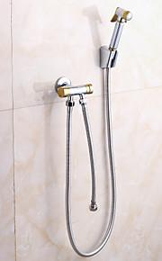 Смеситель для душа/Смеситель для ванны Латунь - Ручная лейка входит в комплект - Современный ( Хром )