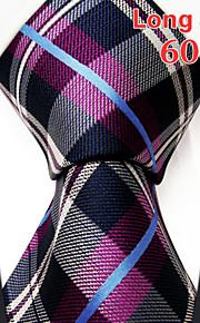 Men's Business Checked Fuchsia Ties
