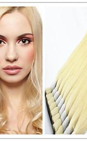 """3шт / много масса волос: 14 """"-32"""" девственница 100% бразильские человеческие волосы навалом, блондин Цвет 613 # шелковистая прямая"""