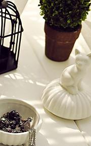 organisateur porcelaine blanche animale bijoux en forme de perle collier de stockage de stockage de bracelet (aléatoire)