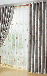 Two Panels European Contracted Fashion Design Rich Jacquard Window Shade Tree