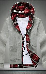 Jacke ( Grün/Orange/Rot/Grau , Baumwolle ) - für Freizeit - für MEN Lang