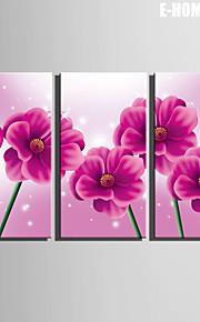 e-Home® venytetty kankaalle art violetit kukat koristelu maalaus sarja 3