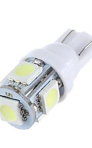 lorcoo ™ 2 stuks t10 1.5W 5x5050smd 100-120lm 6000K koel wit licht led lamp