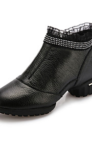 Женская обувь - Кожа/Кружево - Номера Настраиваемый ( Черный ) - Современный танец