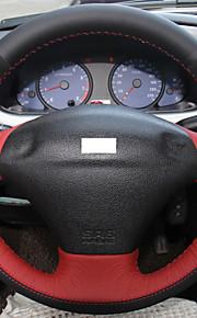 Xuji ™ rood zwart lederen zwarte suede stuurhoes voor Ford Fiesta 4 mk4 1996-2006 oude fiesta