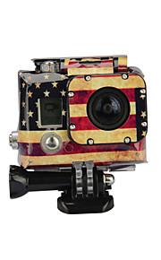 Kingma gopro tarvikkeet american flag tapauksessa tarra gopro sankarin 4 3 kotelo