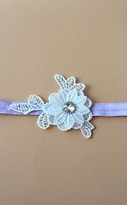 Garter Stretch Satin Flower White/Black/Blue/Purple/Green/Pink/Ivory