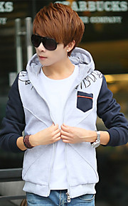 Young men in the spring and autumn coat tide male han edition student clothes boy hooded cardigan fleece single male