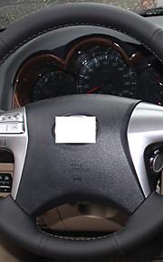 Xuji ™ zwart lederen stuurwiel hoes voor Toyota Fortuner hilux
